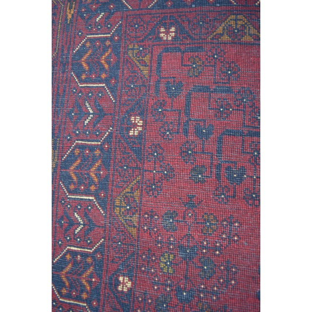 Red Afghan Tribal Red Rug For Sale - Image 8 of 9