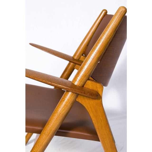 Hans Wegner CH-28 Lounge Chair For Sale - Image 9 of 10