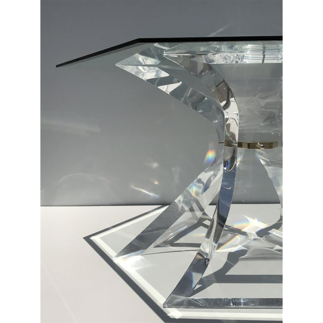 Lion in Frost Lucite Tripod Base Dining Table - Image 6 of 10