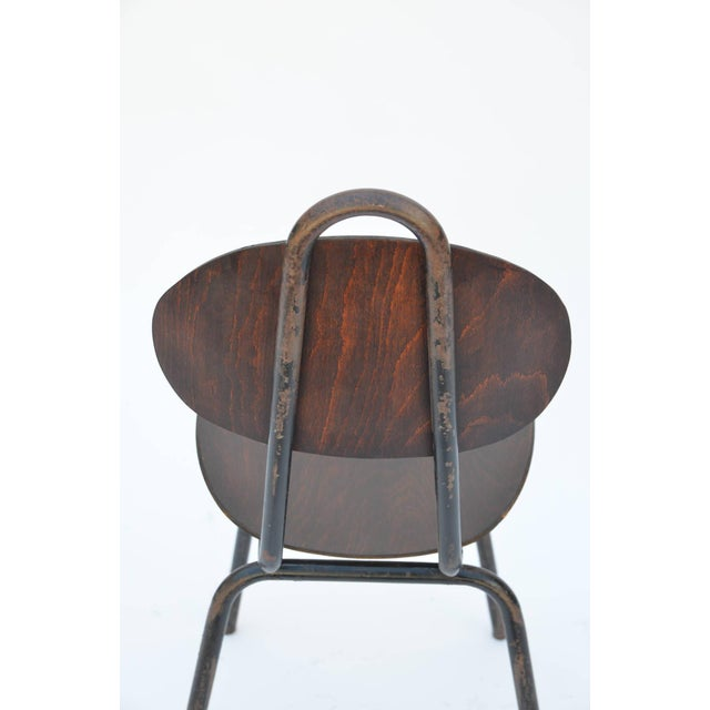 Brown Pair of Unique French Industrial Bentwood Side Chairs For Sale - Image 8 of 10