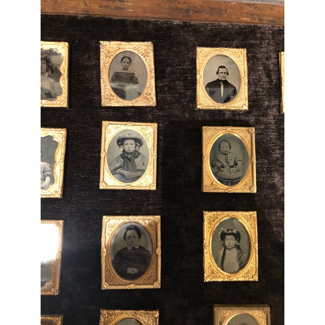 American Collection of School Children and Teacher Portraits Circa 1870 in Acrylic Case - Set of 20 For Sale - Image 3 of 13
