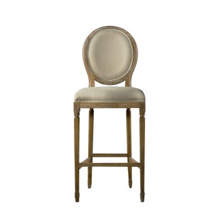 Curations Limited French Vintage Louis Back Counter Stools - a Pair