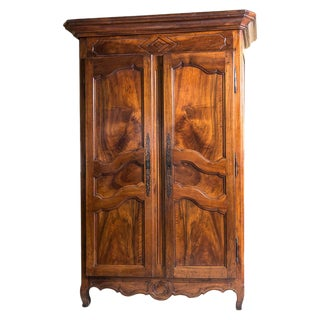 Early 19th Century French Walnut Armoire For Sale
