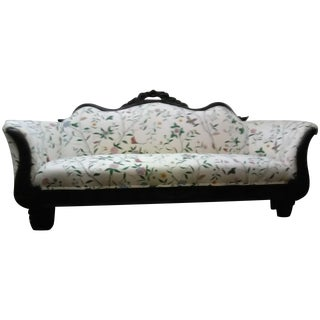 Circa 1890 Victorian Style Floral Sofa