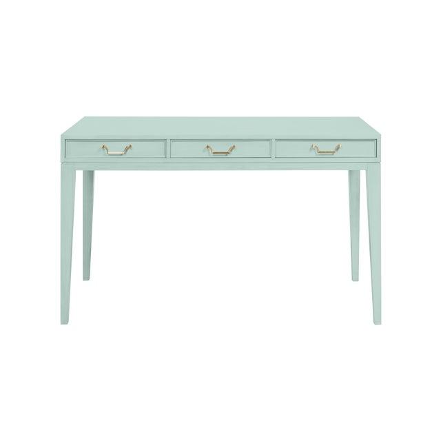 Traditional Casa Cosima Living Tilda Taper Leg Desk - Palladian Blue For Sale - Image 3 of 3