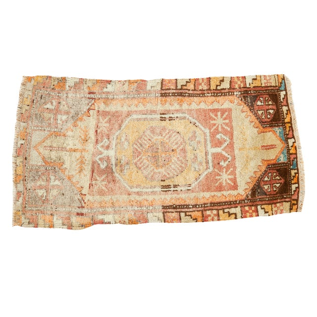 "Vintage Oushak Distressed Rug - 1'6"" x 2'10"" - Image 1 of 6"