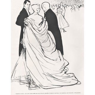 Matted Mid-Century Dior Fashion by Gruau For Sale