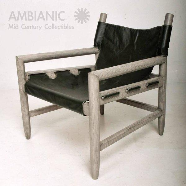 Modern Mid-Century Modern Pair of Safari Lounge Chairs For Sale - Image 3 of 7