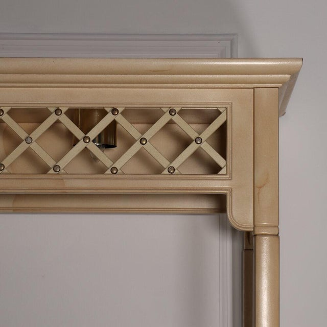 Henredon Lattice Canopy Bed For Sale - Image 12 of 13