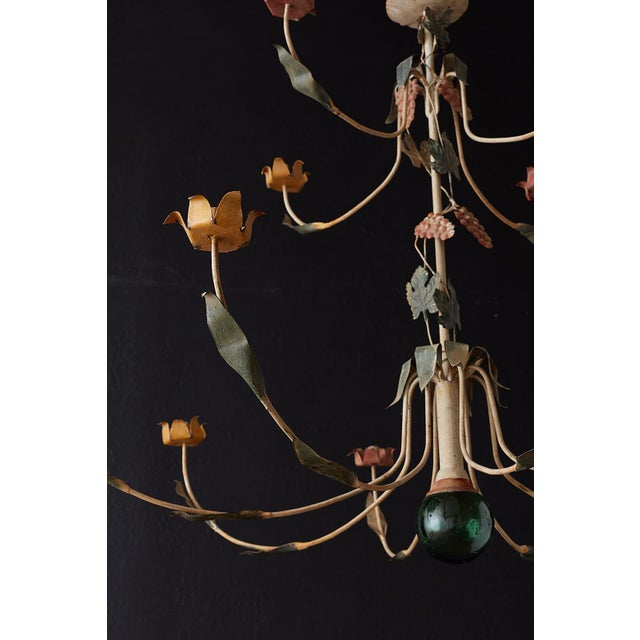 Rustic French Iron Twelve-Light Candle Chandelier For Sale - Image 11 of 13