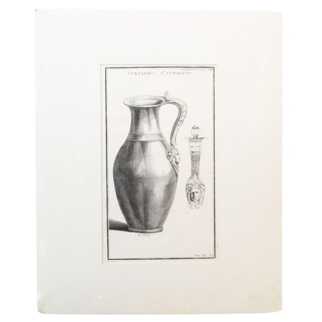 Engraving Early 18th Century Antique Urns and Vases of Ancient Times Engraving Print For Sale - Image 7 of 7