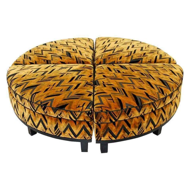 Mid Century Modern Wormley for Dunbar 4 Piece Sectional Ottoman Larsen Era 1960s For Sale - Image 10 of 10