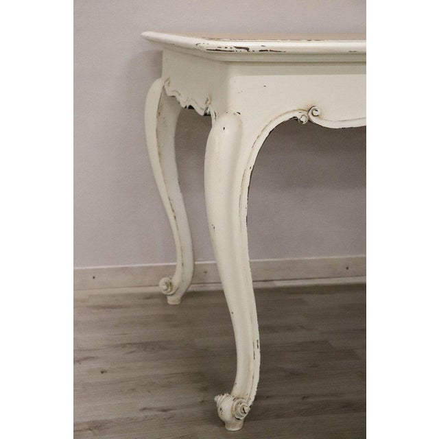1930s 20th Century French Country Provencal Louis XV Style Painted Dining Room Table For Sale - Image 5 of 10