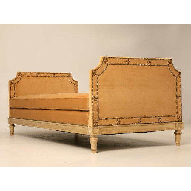 Gold Custom Old Plank Upholstered Daybed For Sale - Image 8 of 9