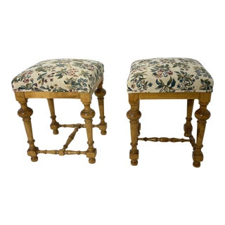 1970s Vintage Low Stools - A Pair For Sale