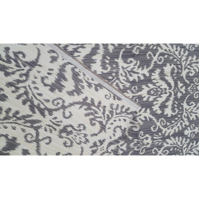 Woven Ikat Reversible Fabric Remnant For Sale - Image 4 of 6
