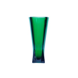Green Glass Flower Vase Preview
