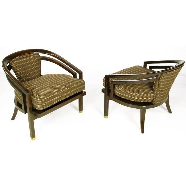 Mid-Century Modern Pair of Elegant 1960s Club Chairs by Century For Sale - Image 3 of 9