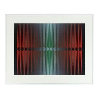 Dordevic Miodrag Framed Op Art Painting For Sale
