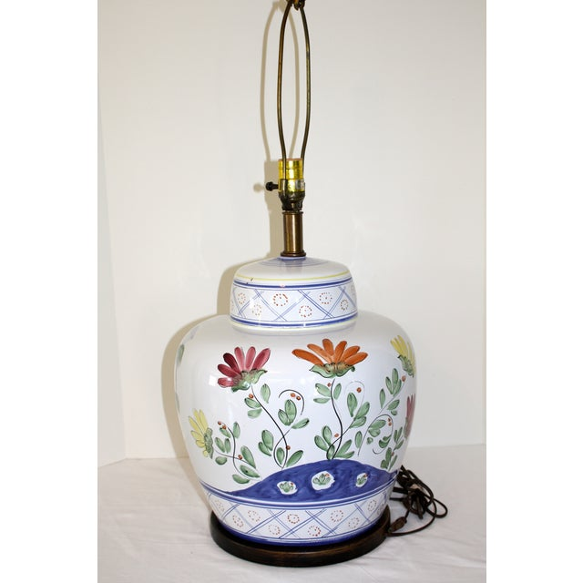 Frederick Cooper Hand-Painted Italian Lamp - Image 7 of 8
