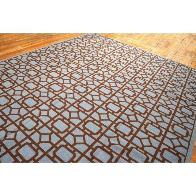 """Modern Needlepoint Wool Rug 9'0"""" X 12'0"""" For Sale - Image 4 of 10"""