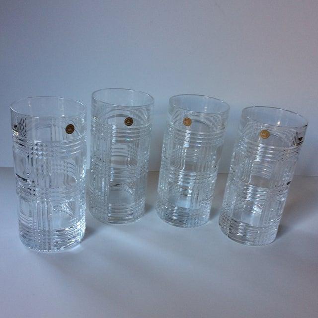 926cc0ea9f18 Set of 4 never used, 24% lead Crystal highball glasses, hand cut,.  Hollywood Regency Ralph Lauren Glen Plaid ...