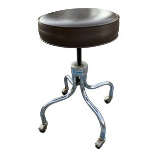 Mid-Century Modern Medical Stool by e.f. Brewer Company For Sale
