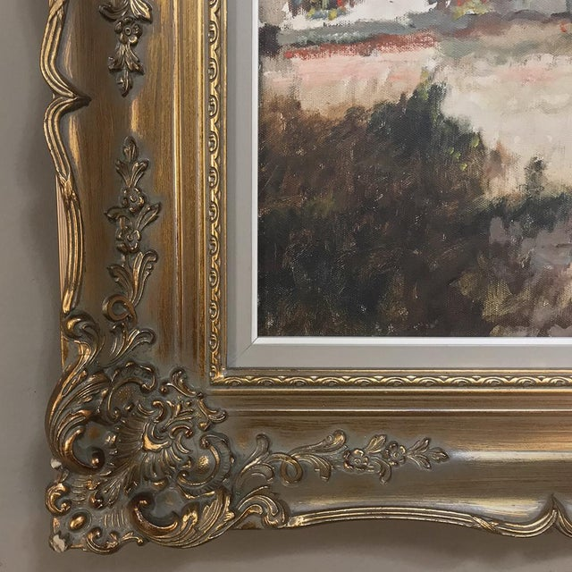 Antique Framed Oil Painting on Canvas by Pauwels For Sale - Image 10 of 13