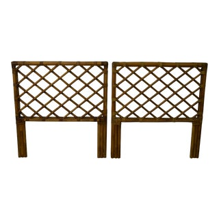 Brown Jordan Rattan Twin Size Headboards - A Pair