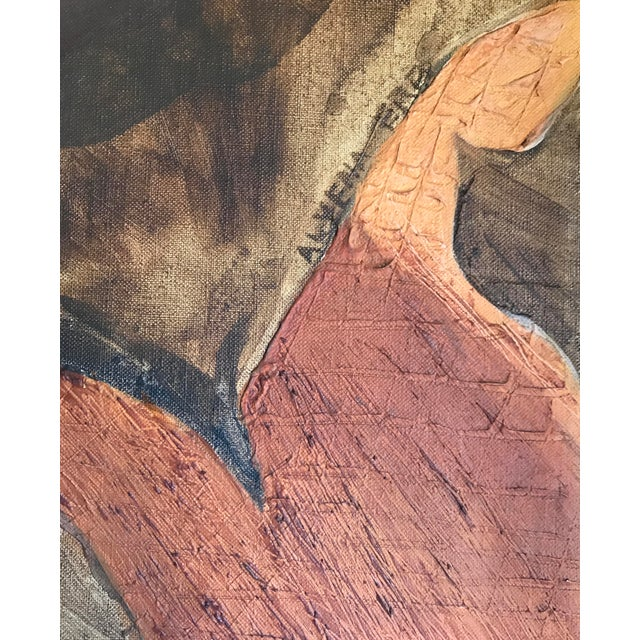 Abstract Mid-Century Abstract Expressionist Painting For Sale - Image 3 of 6