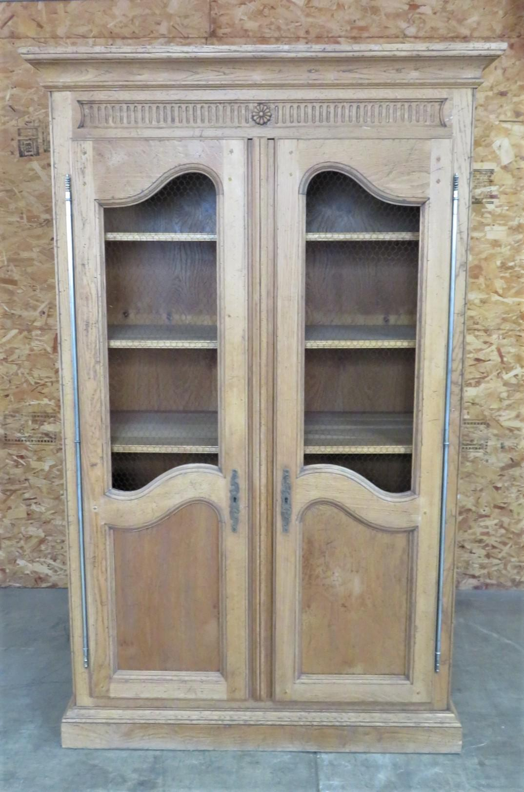 bloomingdale s oak country french bookcases a pair wire mesh file cabinet wire mesh gun cabinet