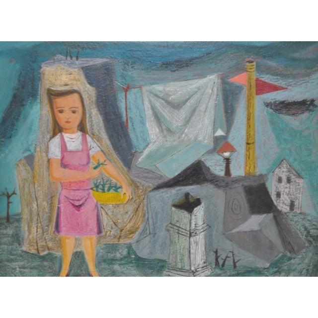 "Raymond Tom ""Domestic Surrealism"" Original Oil Painting c.1947 - Image 7 of 9"