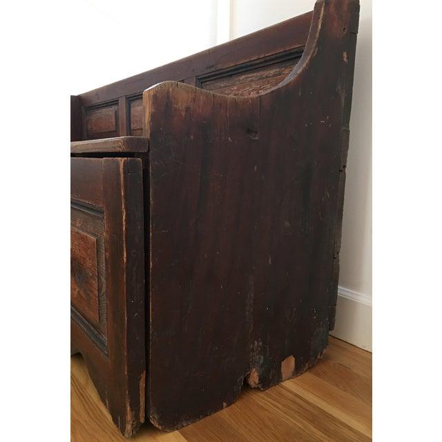 Antique Wooden Storage Bench - Image 4 of 8