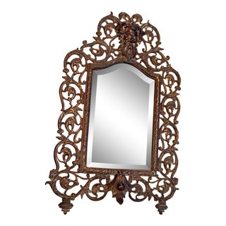 Antique Bradley Hubbard Brass Northface Vanity Mirror For Sale