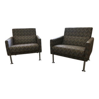 Modern Brayton International Sidewalk Lounge Chairs- A Pair For Sale