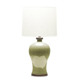 Lawrence & Scott Dashiell Table Lamp in Oyster Crackle For Sale