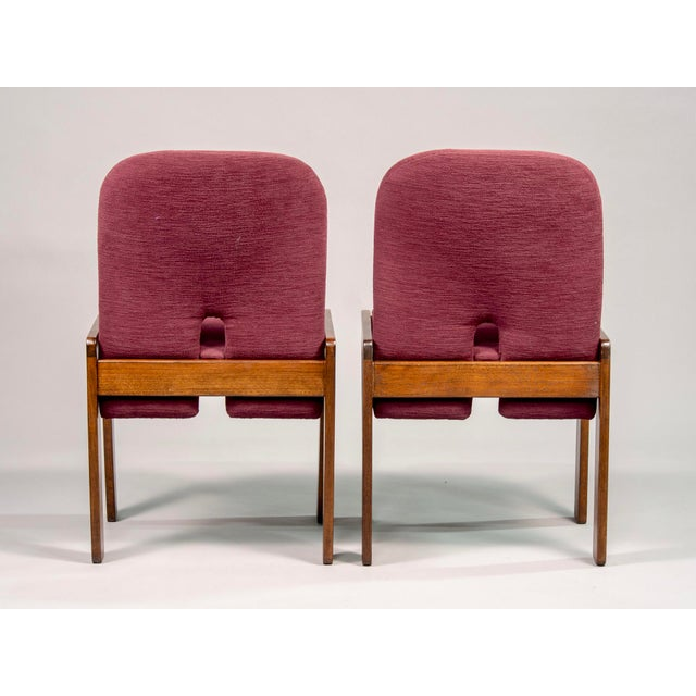 Wood Afra and Tobia Scarpa 121 Walnut Dining Chairs for Cassina, Set of 8 For Sale - Image 7 of 11