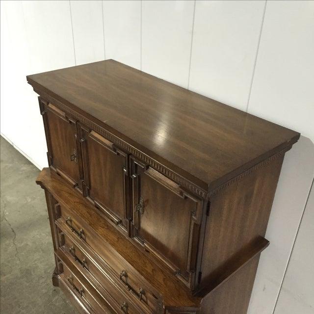 Vintage Walnut Highboy Dresser - Image 4 of 7