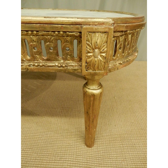 Early 19th Century 18th C Louis XVI Table Cut for Coffee Table Height For Sale - Image 5 of 8