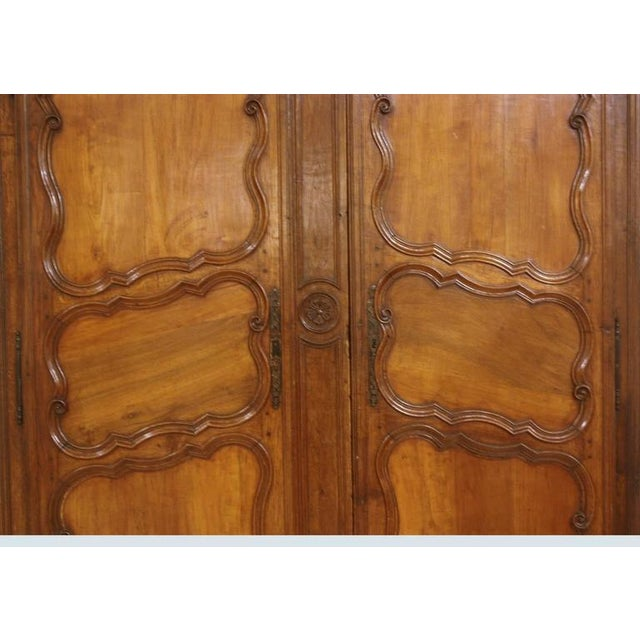 Louis XV Large 18th Century French Walnut Armoire For Sale - Image 3 of 6