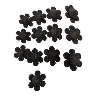 13 Iron Flower Ornamental & 8 Pins - 21 Total For Sale