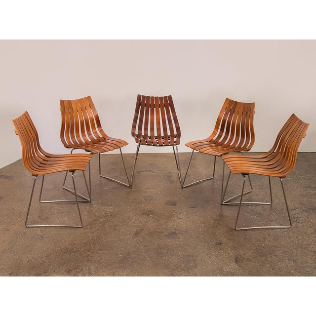 1960s Hans Brattrud Scandia Dining Chairs - Set of 5 For Sale - Image 5 of 12