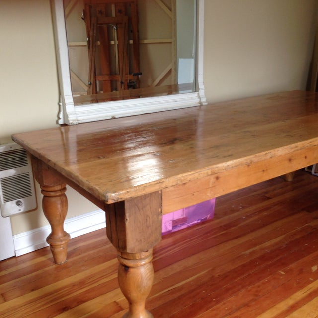 Large Reclaimed Wood Farm Table - Image 8 of 8