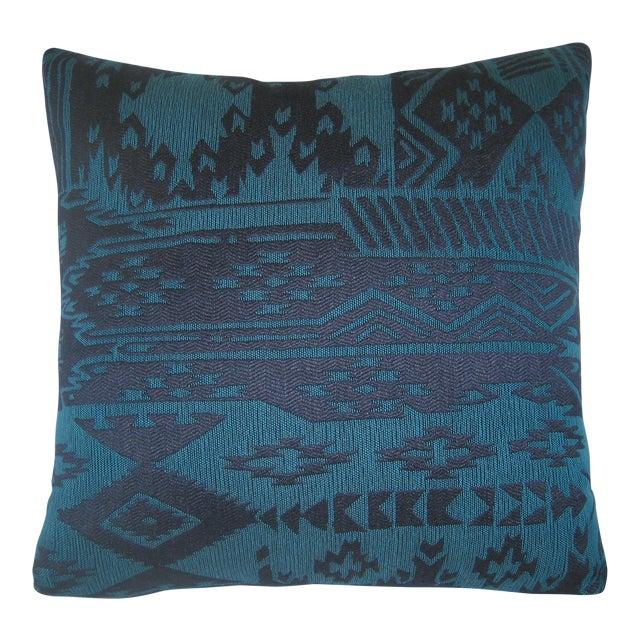 Blue Turkish Kilim Pillow For Sale