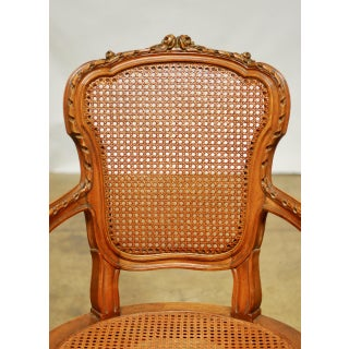 Neoclassical Louis XVI Shield Back Caned Fauteuil Chair Preview