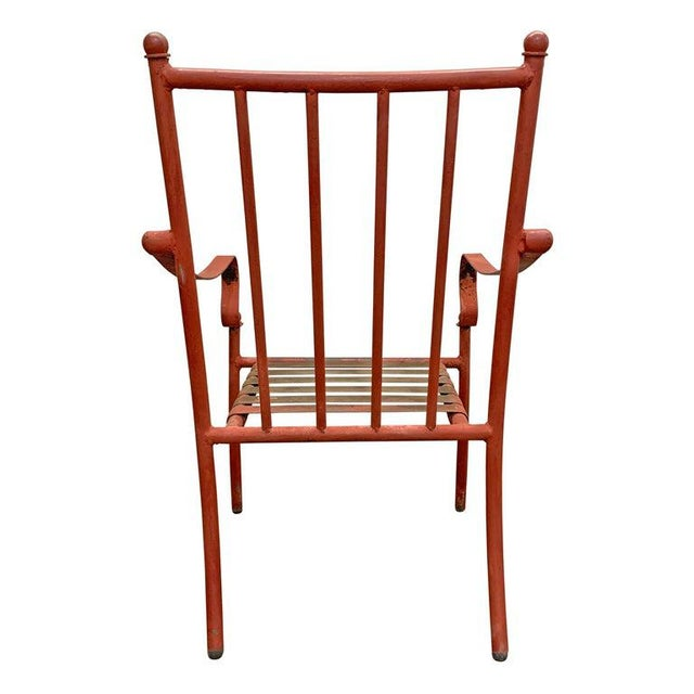 Brown Set of Four Mid-20th Century American Iron Patio Chairs For Sale - Image 8 of 12