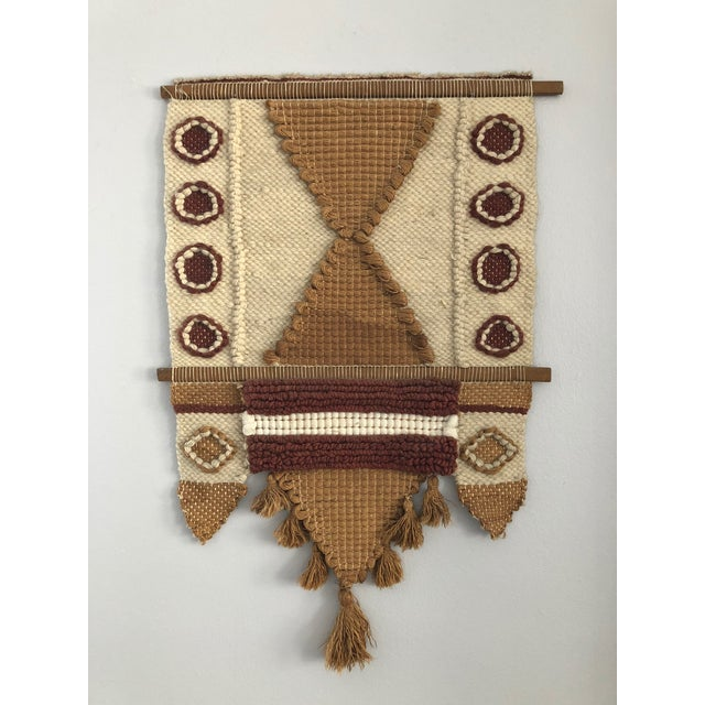 Don Freedman Mid-Century Fiber Art Wall Hanging For Sale - Image 4 of 4