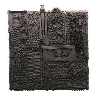 Mixed Media Found Art Sculpture in the Style of Louise Nevelson For Sale