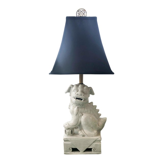 1950s Mid Century Foo Dog Lamp For Sale