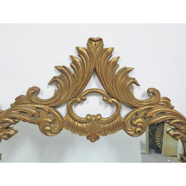 Italian Rococo Carved Gold Gilt Overmantle Mirror For Sale - Image 4 of 6